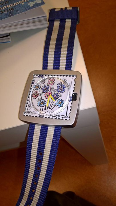 montre stamps bruno lecuyer artiste