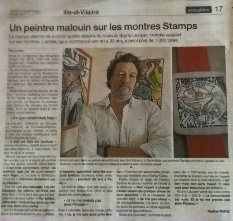 montre stamps bruno lecuyer artiste peintre